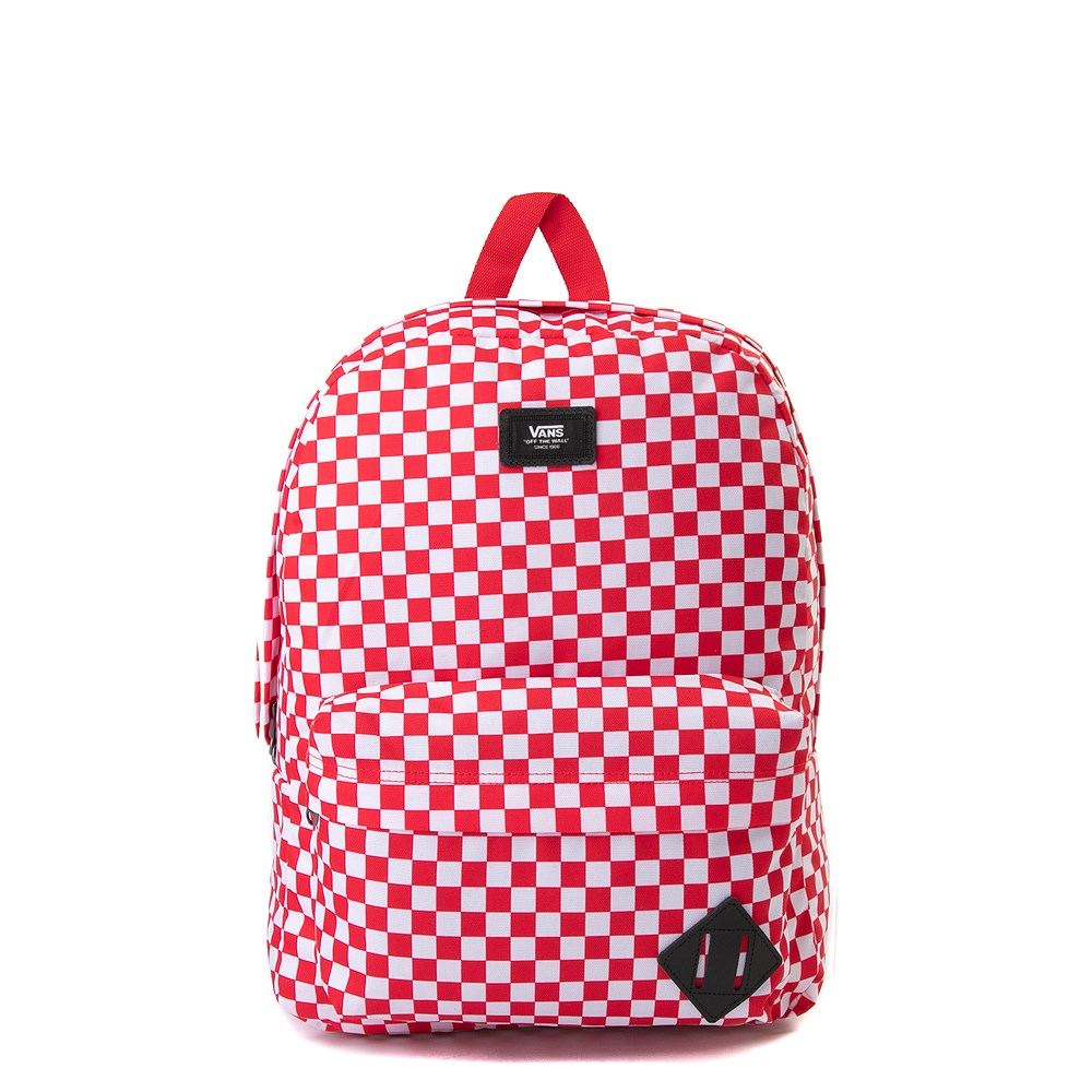 Vans Old Skool Checkerboard Backpack - Red / White