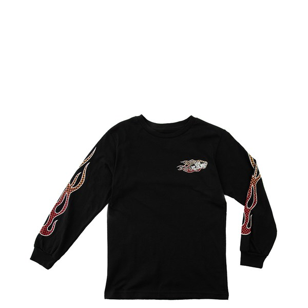 Default view of Vans Checkered Flame Long Sleeve Tee - Toddler - Black