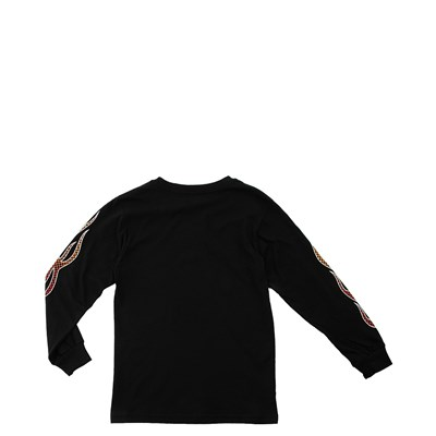 Alternate view of Vans Checkered Flame Long Sleeve Tee - Toddler - Black