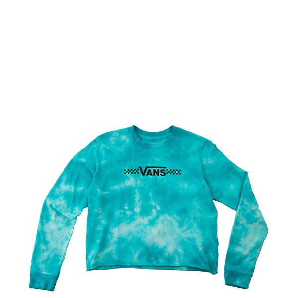 Vans Funnier Times Cloud Wash Cropped Tee - Little Kid - Bluebird