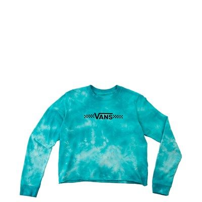 Main view of Vans Funnier Times Cloud Wash Cropped Tee - Little Kid - Bluebird