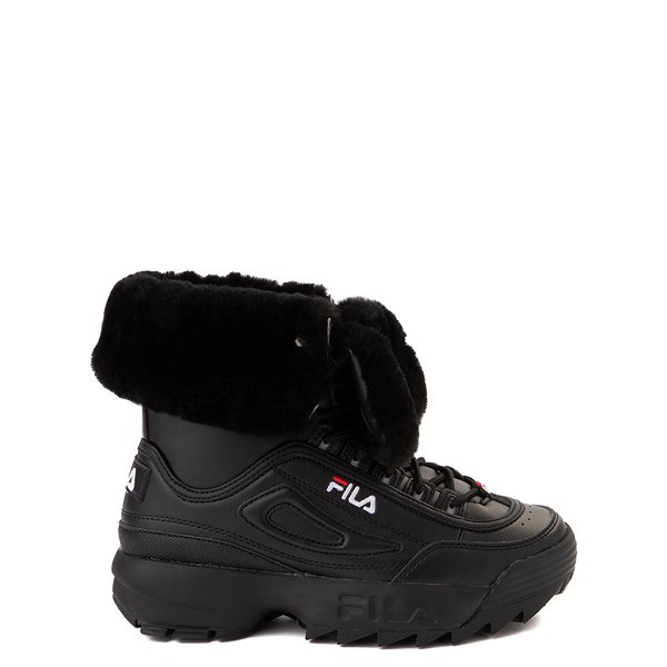 Fila Disruptor Shearling Boot - Big Kid - Black
