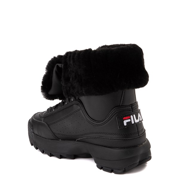 alternate view Fila Disruptor Shearling Boot - Big Kid - BlackALT2
