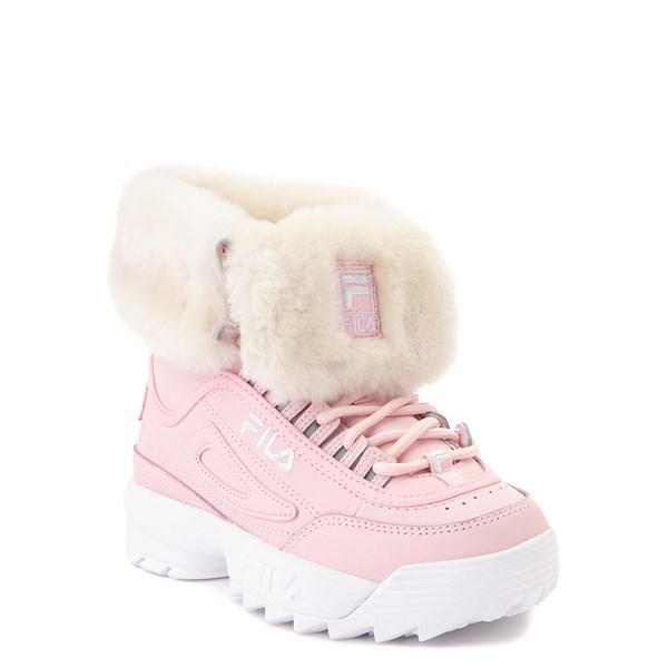 alternate view Fila Disruptor Shearling Boot - Little Kid - PinkALT1