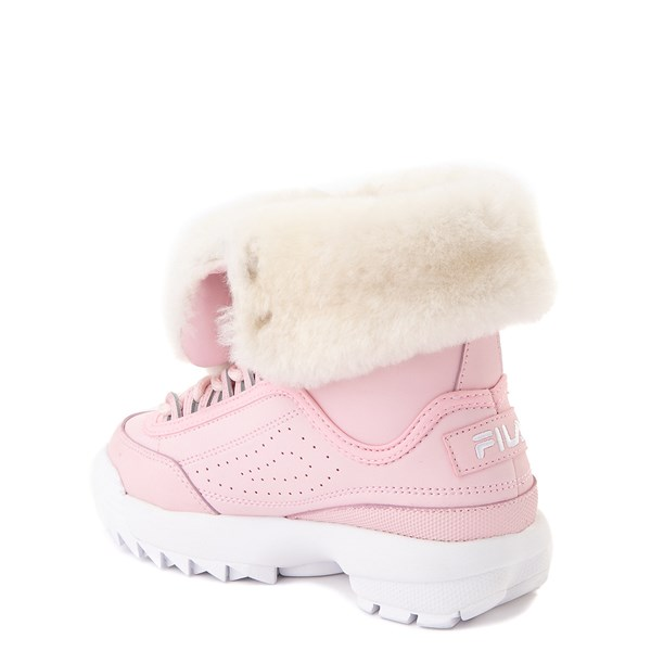 alternate view Fila Disruptor Shearling Boot - Little Kid - PinkALT2