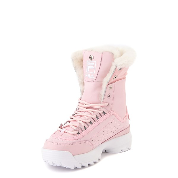 alternate view Fila Disruptor Shearling Boot - Little Kid - PinkALT3