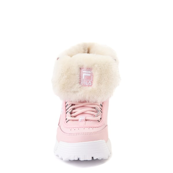 alternate view Fila Disruptor Shearling Boot - Little Kid - PinkALT4