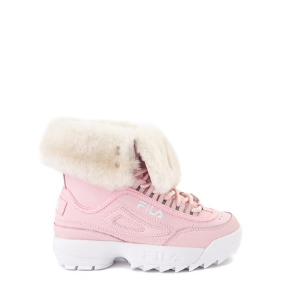 Main view of Fila Disruptor Shearling Boot - Little Kid - Pink