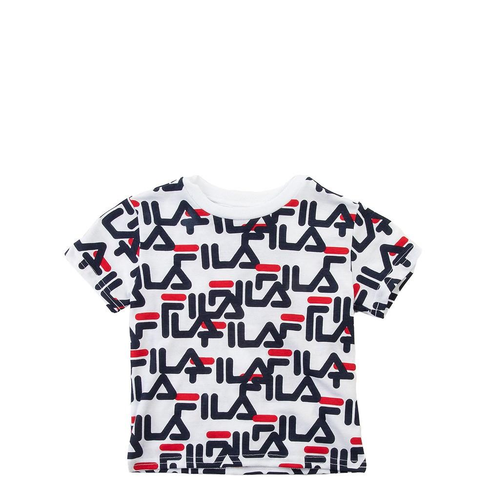 Fila All-Over Logo Tee - Toddler - White
