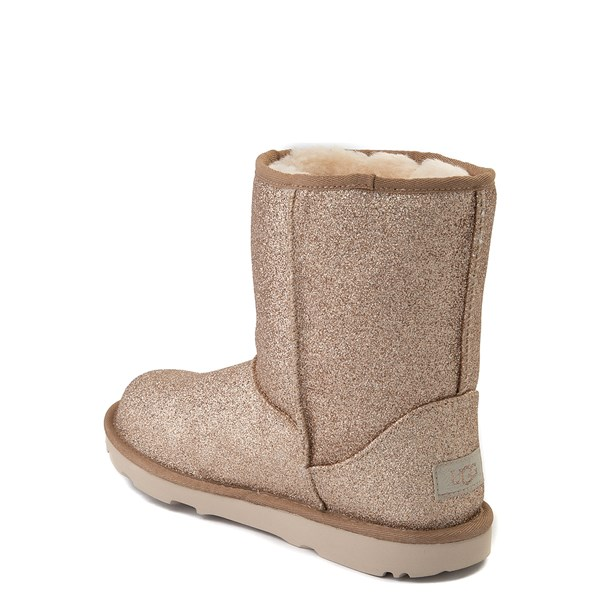 alternate view UGG® Classic II Glitter Boot - Little Kid / Big Kid - GoldALT2