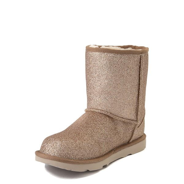 alternate view UGG® Classic II Glitter Boot - Little Kid / Big Kid - GoldALT3