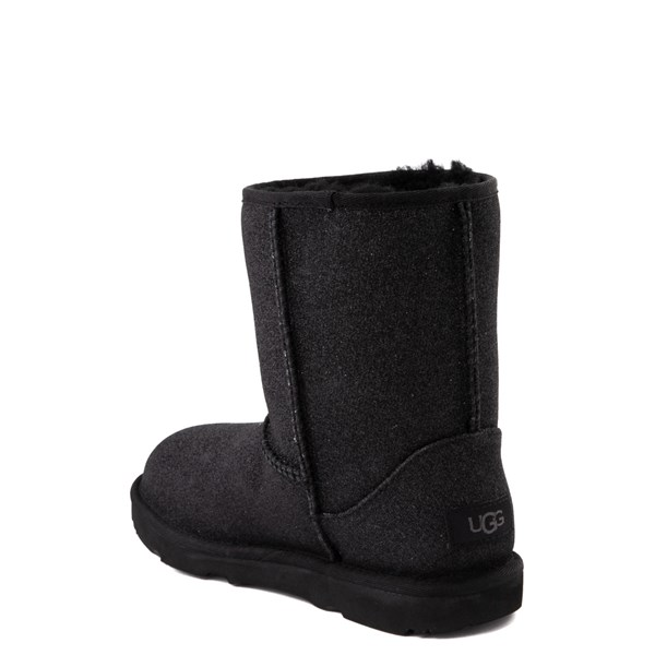 alternate view UGG® Classic II Glitter Boot - Little Kid / Big Kid - BlackALT2