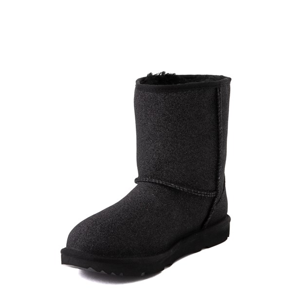 alternate view UGG® Classic II Glitter Boot - Little Kid / Big Kid - BlackALT3
