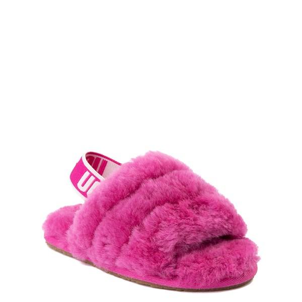 Alternate view of UGG® Fluff Yeah Slide Sandal - Toddler / Little Kid - Fuchsia