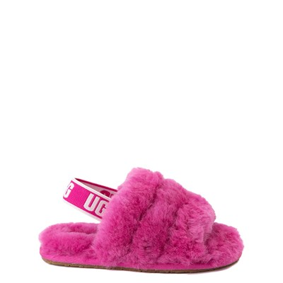 Main view of UGG® Fluff Yeah Slide Sandal - Toddler / Little Kid - Fuchsia