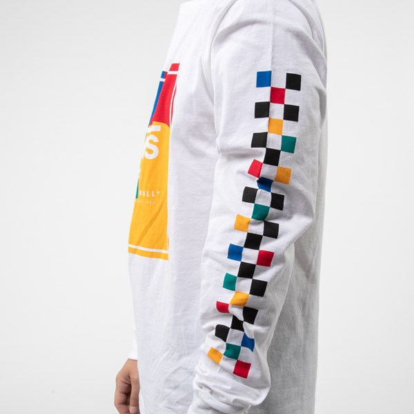 alternate view Mens Vans Kalido Color-Block Long Sleeve Tee - White / MultiALT5