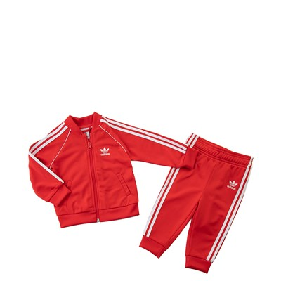 Main view of adidas Superstar Track Suit - Toddler - Red