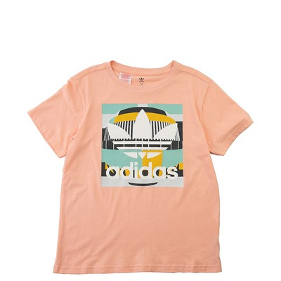 Main view of adidas Test Pattern Tee - Little Kid / Big Kid - Glow / Pink