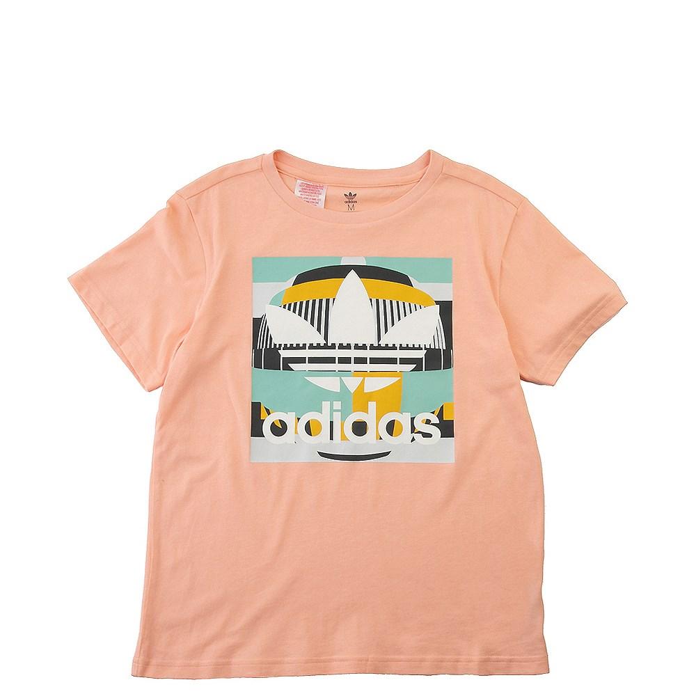 adidas Test Pattern Tee - Little Kid / Big Kid - Glow / Pink