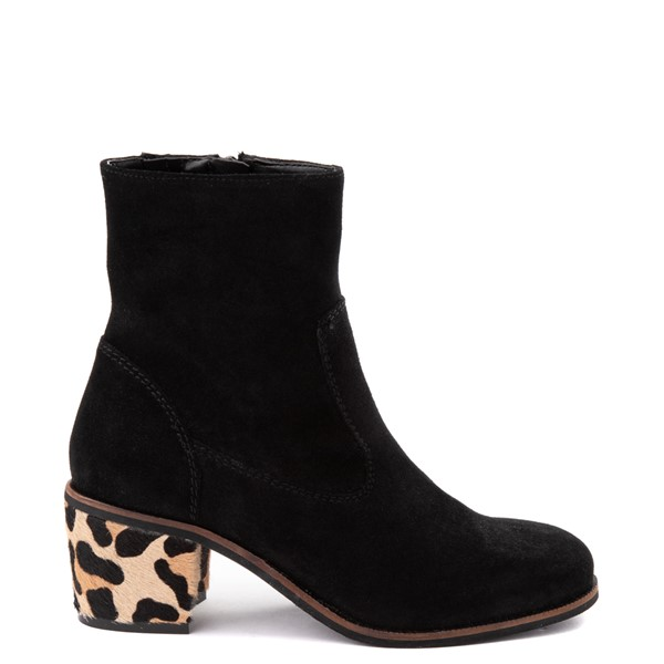 Womens Crevo Jade Ankle Boot - Black / Leopard