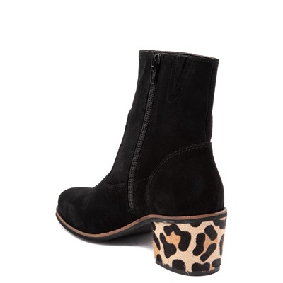 Alternate view of Womens Crevo Jade Ankle Boot - Black / Leopard