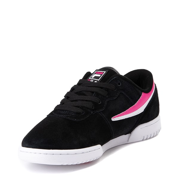 alternate view Womens Fila Original Fitness Athletic Shoe - Black / White / PinkALT2