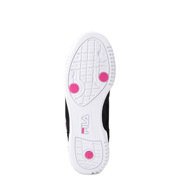 alternate view Womens Fila Original Fitness Athletic Shoe - Black / White / PinkALT3