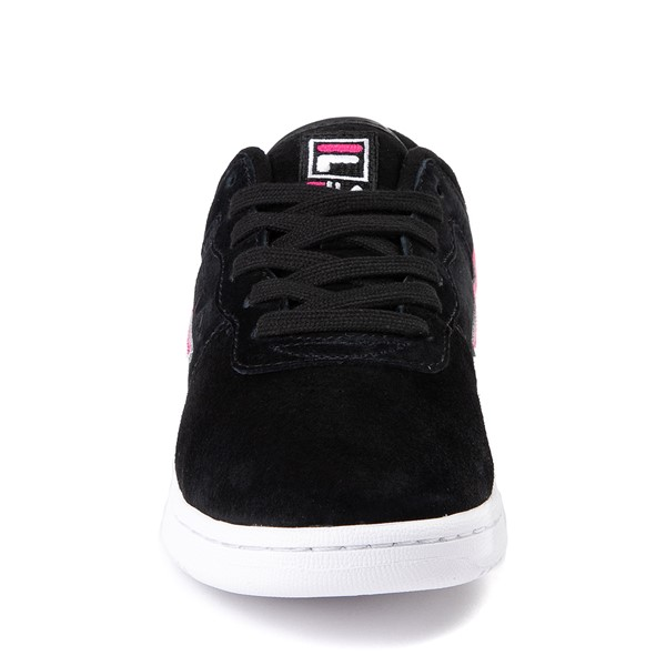 alternate view Womens Fila Original Fitness Athletic Shoe - Black / White / PinkALT4