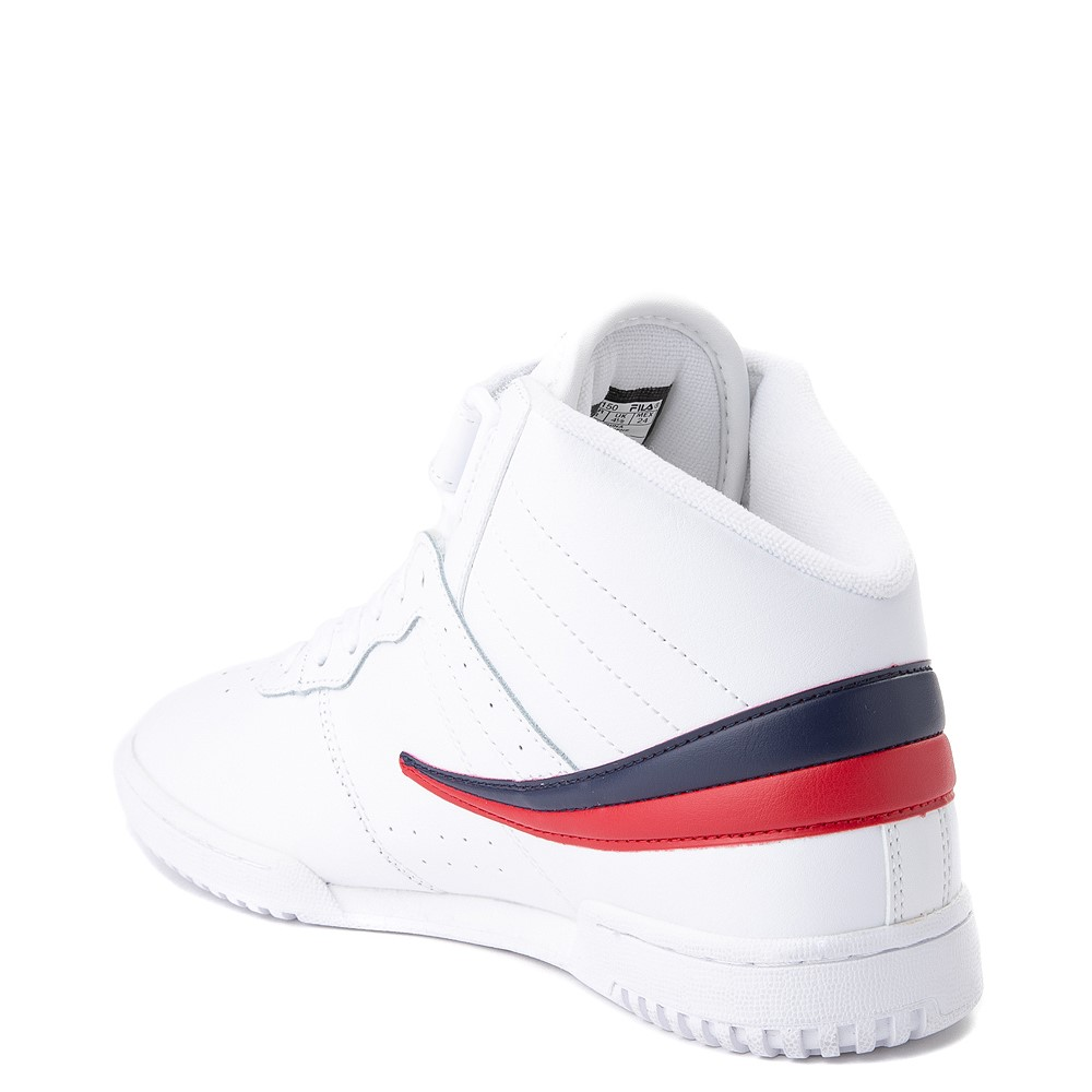 Womens Fila F 13 Athletic Shoe White Navy Red
