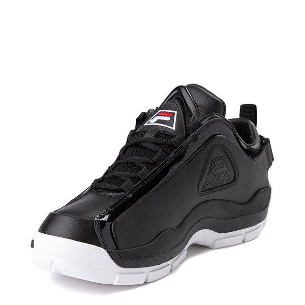 alternate view Mens Fila 96 Low Athletic Shoe - Black / WhiteALT2
