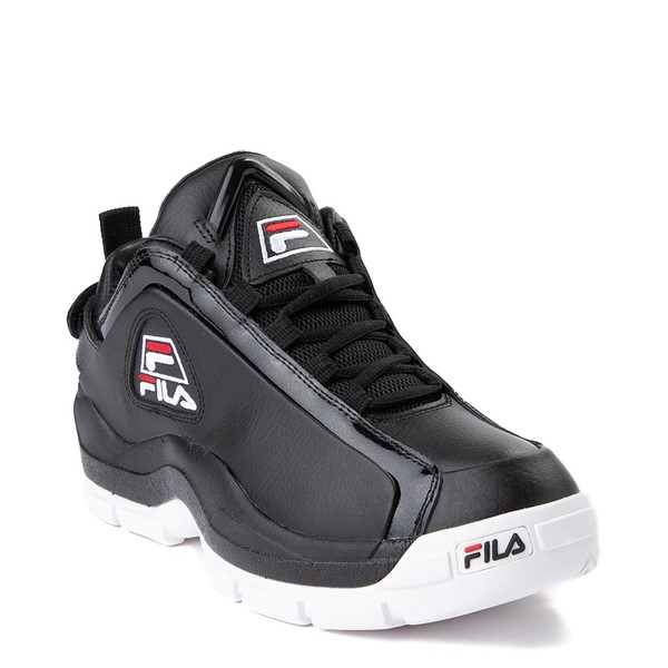 alternate view Mens Fila 96 Low Athletic Shoe - Black / WhiteALT5