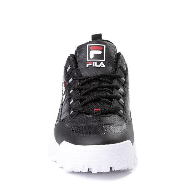 alternate view Mens Fila Disruptor 2 Athletic Shoe - Black / Red / WhiteALT4