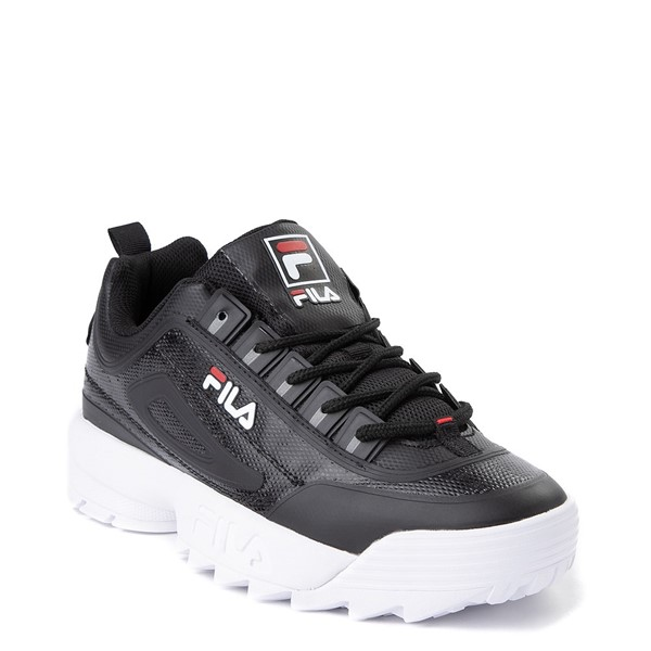alternate view Mens Fila Disruptor 2 Athletic Shoe - Black / Red / WhiteALT5