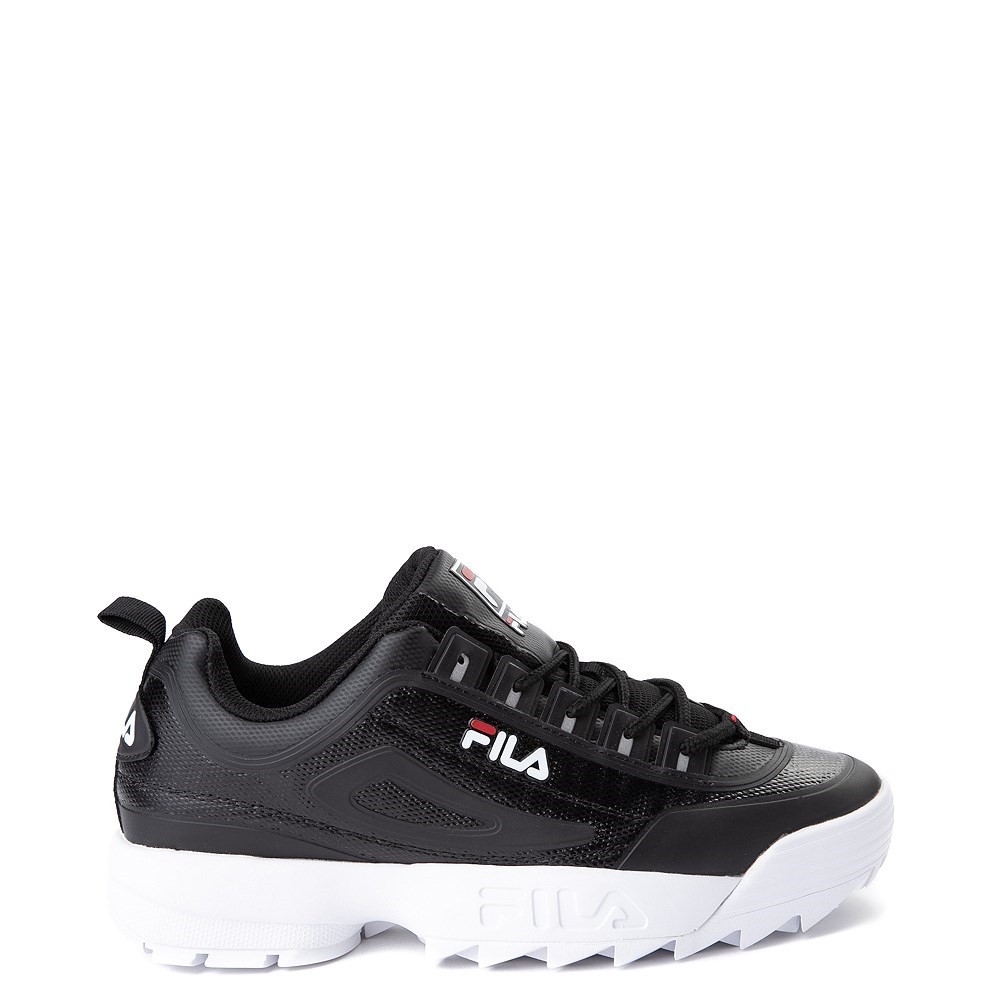 Mens Fila Disruptor 2 Athletic Shoe - Black / Red / White