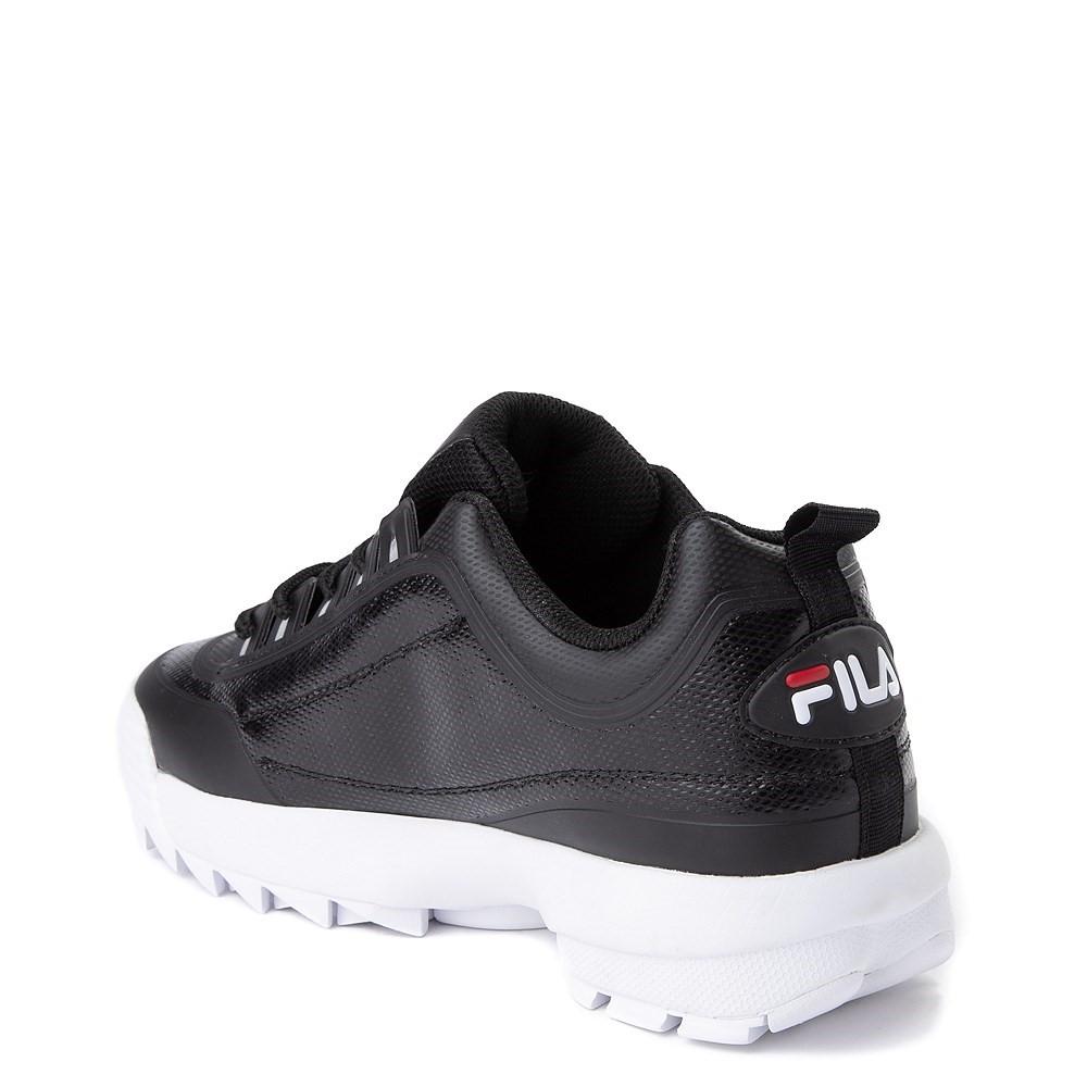 Mens Fila Disruptor 2 Athletic Shoe Black Red White