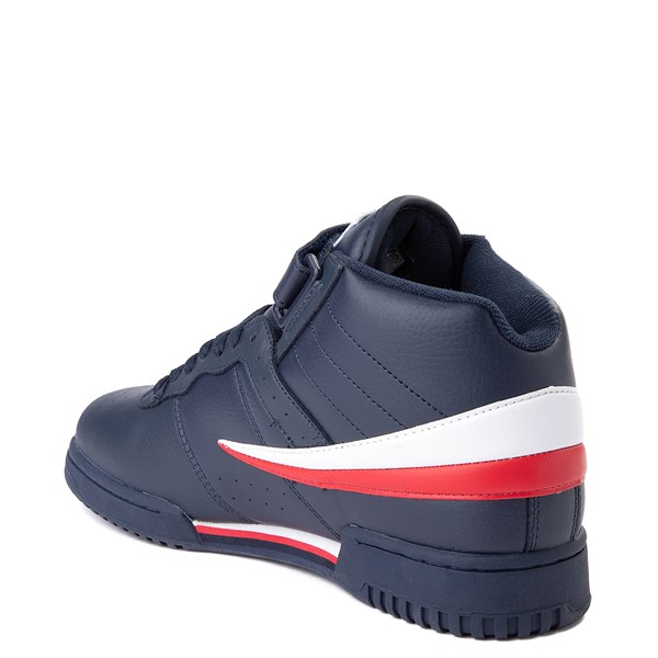 alternate view Mens Fila F-13 Athletic Shoe - Navy / White / RedALT1