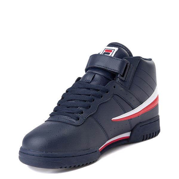 alternate view Mens Fila F-13 Athletic Shoe - Navy / White / RedALT2