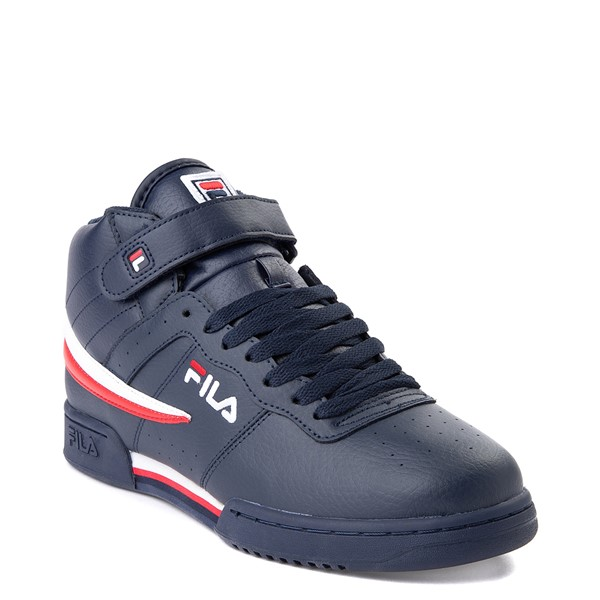 alternate view Mens Fila F-13 Athletic Shoe - Navy / White / RedALT5