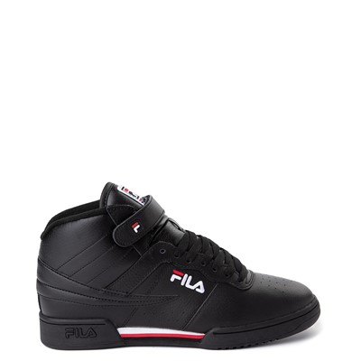 Main view of Mens Fila F-13 Athletic Shoe - Black / White / Red