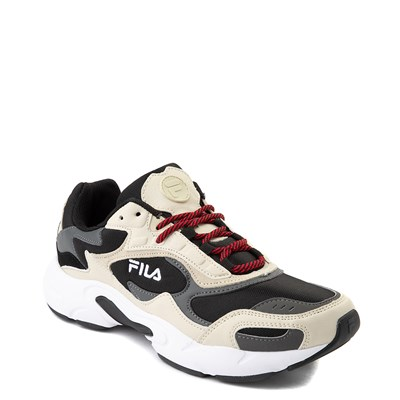 Alternate view of Mens Fila Luminance Athletic Shoe - Black / Cream / Gray