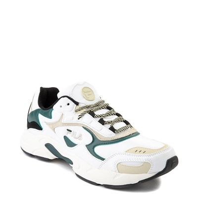 Alternate view of Mens Fila Luminance Athletic Shoe - White / Black / Green