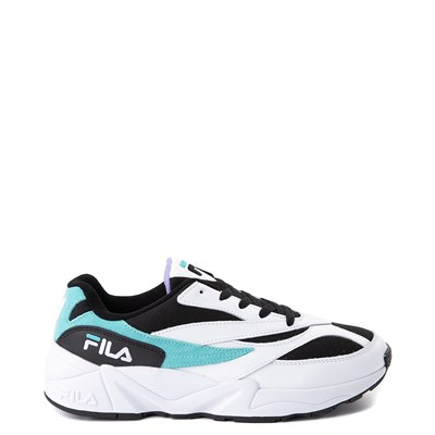 Main view of Mens Fila V94M Athletic Shoe - White / Black / Turquoise