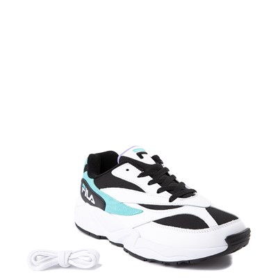Alternate view of Mens Fila V94M Athletic Shoe - White / Black / Turquoise