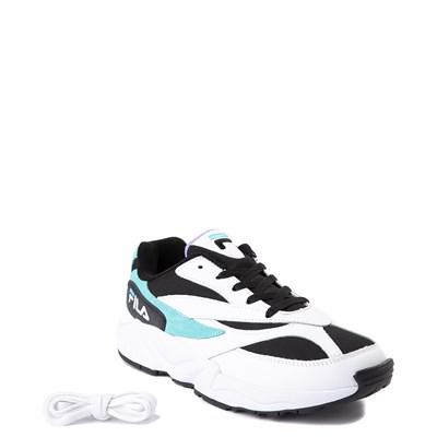 Alternate view of Mens Fila V94M Athletic Shoe - White / Black / Turquoise