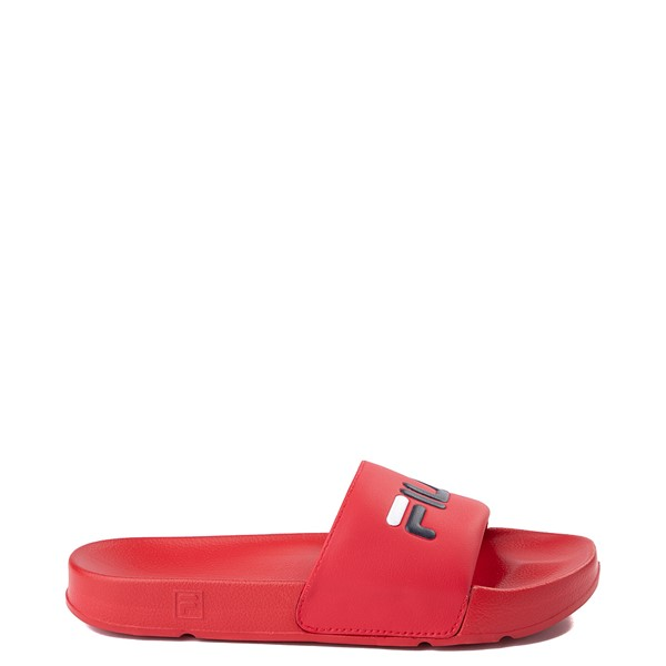 Mens Fila Drifter Slide Sandal - Red / White / Navy