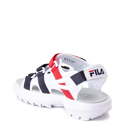 Alternate view of Mens Fila Disruptor Sandal - White / Navy / Red