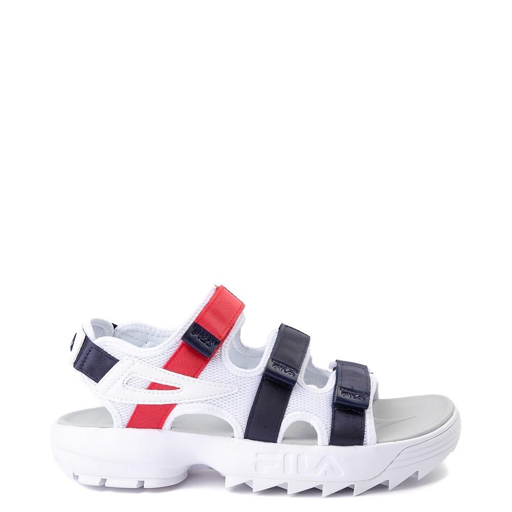 Mens Fila Disruptor Sandal - White / Navy / Red