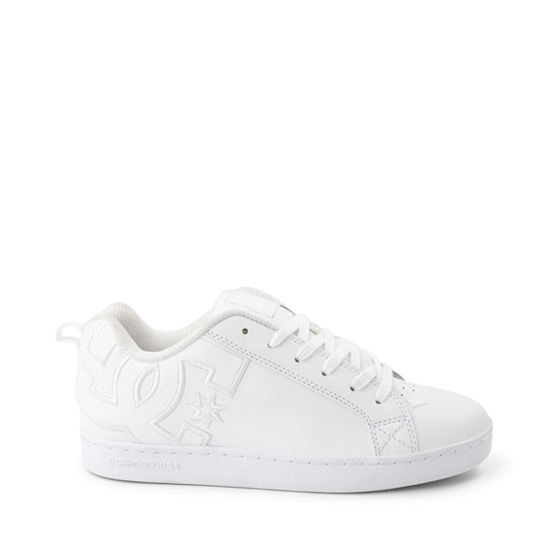 Womens DC Court Graffik Skate Shoe - White Monochrome