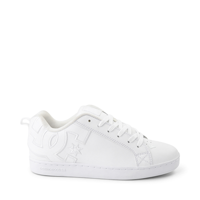 Main view of Womens DC Court Graffik Skate Shoe - White Monochrome