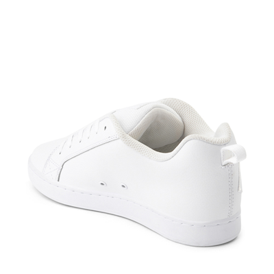 Alternate view of Womens DC Court Graffik Skate Shoe - White Monochrome